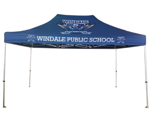 4.5mx3m printed school shade marquee