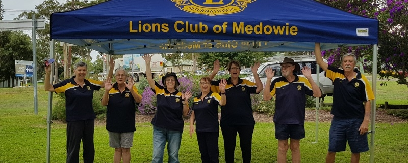 Lions Club printed marquee