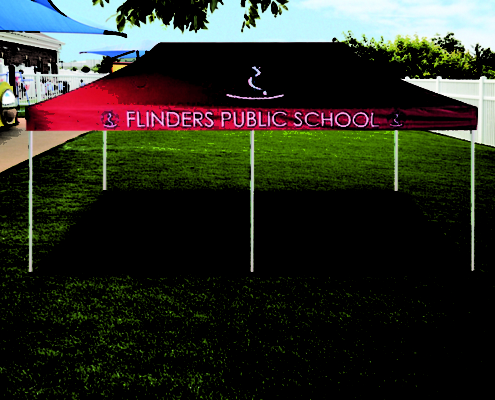 Flinders printed gazebo tent 6mx3m