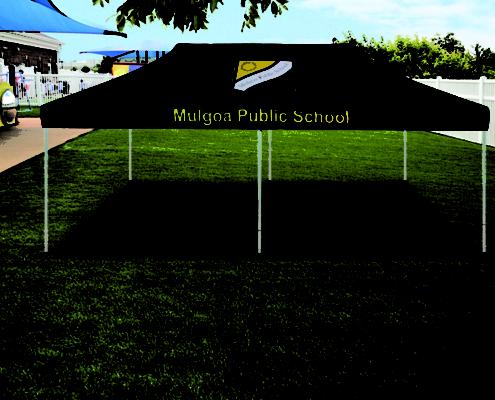 Mulgoa branded marquee 6m x 3m