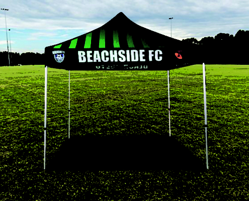 branded sports marquee custom print 3mx3m