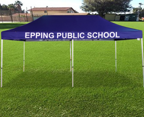 epping school tent with skirt print