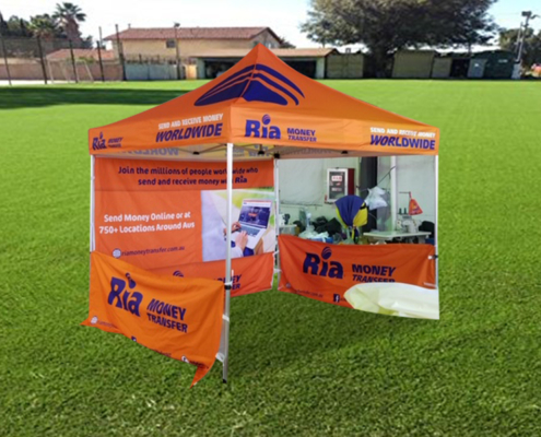 Corporate Branded marquee Ria 3mx3m