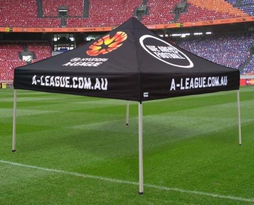 Fully printed sports tent