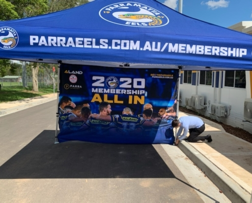Parra Eels branded sports marquee