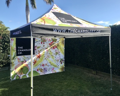 Printed gazebo 3mx3m and printed wall