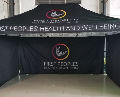 First People Health Printed tent