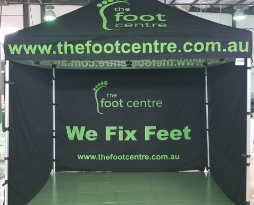 Podiatry Printed marquee 3m x 3m
